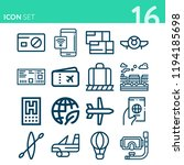 simple set of 16 icons related... | Shutterstock .eps vector #1194185698