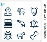 simple set of  9 outline icons... | Shutterstock .eps vector #1194185935