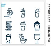 simple set of  9 outline icons... | Shutterstock .eps vector #1194186232