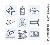 simple set of 9 icons related... | Shutterstock .eps vector #1194186388