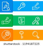 simple set of  9 outline icons... | Shutterstock .eps vector #1194187225