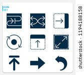 simple set of  9 filled icons... | Shutterstock .eps vector #1194188158
