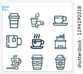 simple set of  9 outline icons... | Shutterstock .eps vector #1194190318