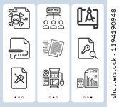 simple set of  9 outline icons... | Shutterstock .eps vector #1194190948