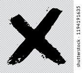 x.grunge letter x vector cross... | Shutterstock .eps vector #1194191635