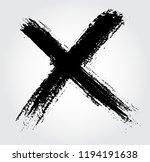 x.grunge letter x vector cross... | Shutterstock .eps vector #1194191638