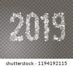 glittering 2019 new year from... | Shutterstock .eps vector #1194192115