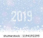 glittering 2019 new year from... | Shutterstock .eps vector #1194192295