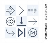 simple set of 9 icons related... | Shutterstock .eps vector #1194193525