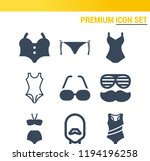 simple set of  9 filled icons... | Shutterstock .eps vector #1194196258
