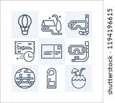 simple set of 9 icons related... | Shutterstock .eps vector #1194196615