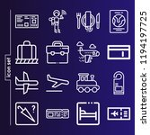simple set of 16 icons related... | Shutterstock .eps vector #1194197725