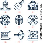simple set of  9 outline icons...   Shutterstock . vector #1194199432