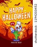 halloween posters. vector... | Shutterstock .eps vector #1194203452