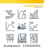 simple set of  9 outline icons...   Shutterstock . vector #1194204292
