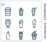 simple set of  9 outline icons...   Shutterstock . vector #1194204742
