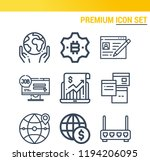 simple set of  9 outline icons...   Shutterstock . vector #1194206095