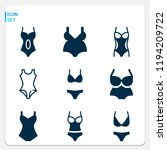 simple set of  9 filled icons... | Shutterstock .eps vector #1194209722