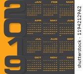 modern design calendar 2019... | Shutterstock .eps vector #1194212962