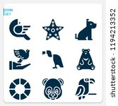 simple set of  9 filled icons...   Shutterstock .eps vector #1194213352