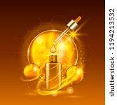 vital serum golden dropper... | Shutterstock .eps vector #1194213532