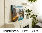modern lliving room interior... | Shutterstock . vector #1194219175