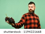 man with beard holds bunch of... | Shutterstock . vector #1194221668