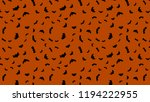 vector black flying bats... | Shutterstock .eps vector #1194222955