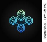 blockchain vector colored...   Shutterstock .eps vector #1194225592
