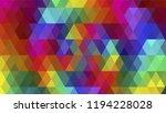 geometric design  mosaic ... | Shutterstock .eps vector #1194228028