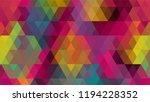geometric design  mosaic ...   Shutterstock .eps vector #1194228352