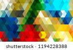 geometric design  mosaic ...   Shutterstock .eps vector #1194228388