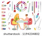 manicure manicurist and tools...   Shutterstock .eps vector #1194234802