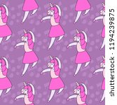 seamless pattern  of cute... | Shutterstock .eps vector #1194239875