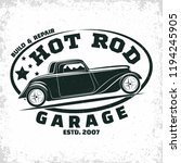 hot rod garage logo design ... | Shutterstock .eps vector #1194245905