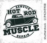hot rod garage logo design ... | Shutterstock .eps vector #1194245908