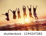 big group of happy friends... | Shutterstock . vector #1194247282
