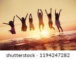 big group of happy friends... | Shutterstock . vector #1194247282