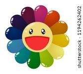 murakami  a trendy flower from...   Shutterstock .eps vector #1194262402