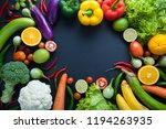 healthy food concept of fresh... | Shutterstock . vector #1194263935