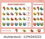 set of tasks for the... | Shutterstock .eps vector #1194265222