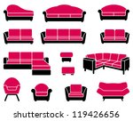 armchairs and sofas | Shutterstock .eps vector #119426656