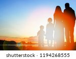 silhouette family  including... | Shutterstock . vector #1194268555