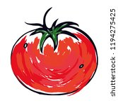 tomato vegetable red icon   ... | Shutterstock .eps vector #1194275425