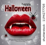 happy halloween  red female... | Shutterstock .eps vector #1194277705