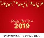 2019 glitter typography design. ... | Shutterstock .eps vector #1194281878