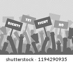 political protest with... | Shutterstock .eps vector #1194290935
