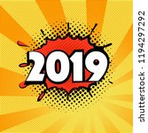 2019 new year on the background ... | Shutterstock .eps vector #1194297292