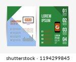 vector brochure template design ... | Shutterstock .eps vector #1194299845