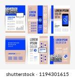 vector brochure template design ... | Shutterstock .eps vector #1194301615
